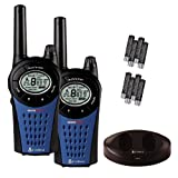 Cobra MT975 PMR446 Walkie Talkie Radio Twin Pack With Charger And Batteries - Black/Blueby Pama