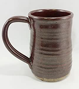Aunt chris 39 pottery hand made clay rust for Natural stone coffee mugs