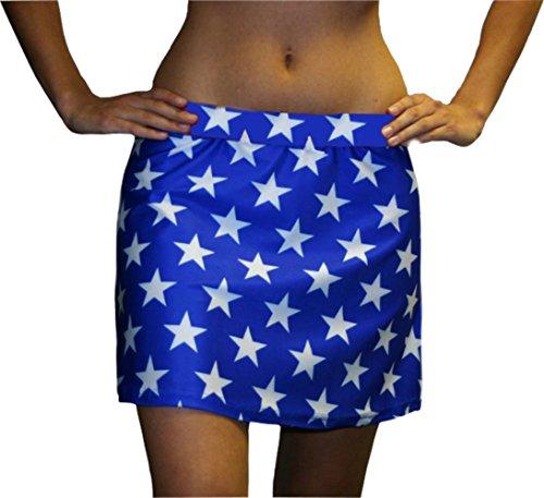 designer running skirt blue with white m waist