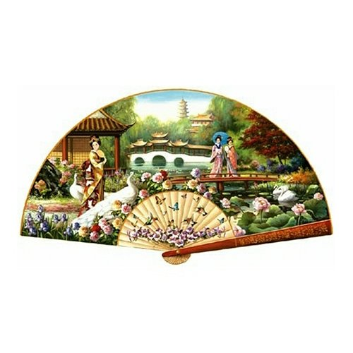 Sunsout Japanese Garden Shaped 1000 Piece Jigsaw Puzzle Picture