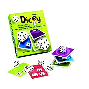 Great American Puzzle Factory Dicey Card and Dice Stacking Game