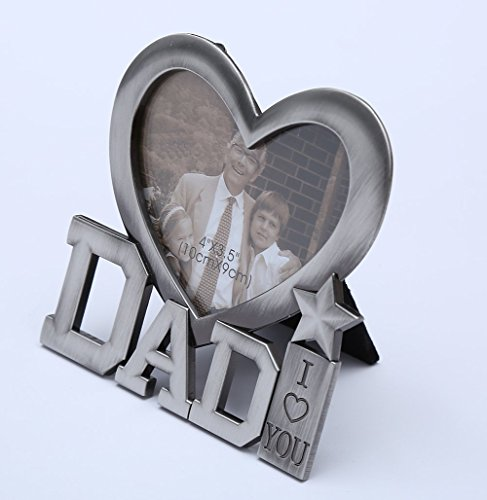"DolphineShow ""I Love You Dad"" Classic Design Frames Sweet gift for Fathers Day or Birthday Gifts for Daddy-Add Photo"