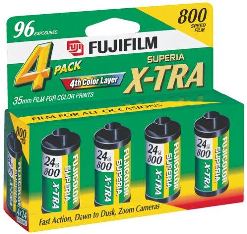 Fujifilm Superia 800 Speed 24 Exposure 35mm Film (4 Pack)