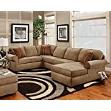 Chelsea Home Furniture Vera 3-Piece Sectional, Victory Lane Taupe