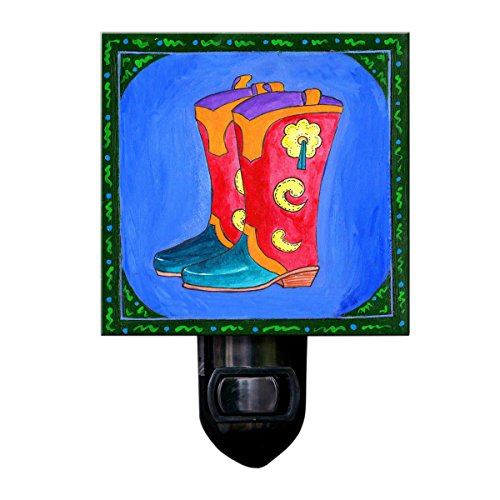 Cowboy Boots Night Light Southwest Decor Lighting Boys Room Texas Western