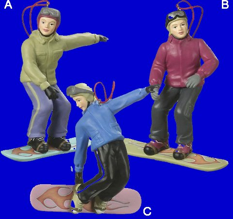 Female Snowboarder Ornaments