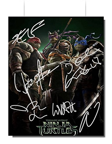 Teenage Mutant Ninja Turtles Cast Signed Autographed 8x10 Photo Reprint RP COA 'William Fichtner, Noel Fisher, Alan Ritchson, Will Arnett, Megan Fox & Johnny Knoxville'
