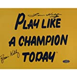 NCAA Notre Dame Fighting Irish Brian Kelly/Lou Holtz Dual Signed Play like a Champion Today Photograph, 8x10-Inch
