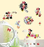 Roommates Rmk2121Scs Mickey  And  Friends   Minnie Loves To Shop Peel  And  Stick Wall Decals