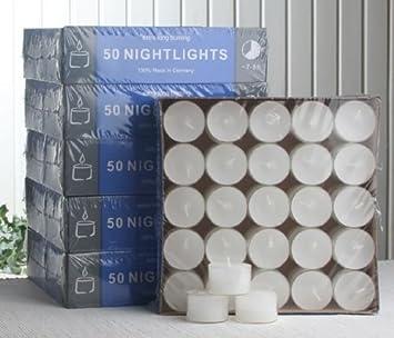 H/ülle 7-8 Std 25 Teelichter transp zitronengelb Nightlights
