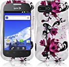 ZTE Fury N850 Director N850L Valet Z665C Hard Plastic Protector Snap-On Cover Case - Purple Lotus