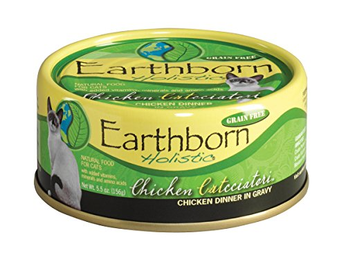 Earthborn Holistic Chicken Catcciatori Chicken Dinner In Gravy Wet Cat Food, 5-1/2-Ounce Can, 24-Pack