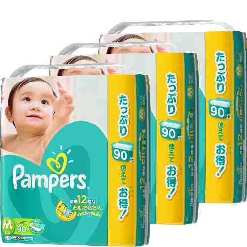 パンパース さらさらケア テープ ウルトラジャンボM 90枚×3(270枚)