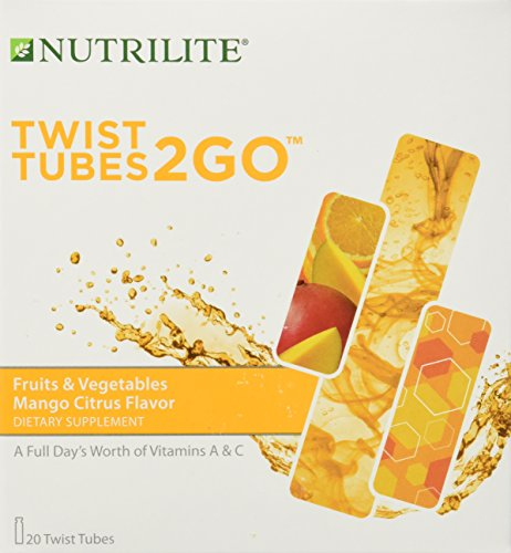 Nutrilite Fruits & Vegetables 2go Twist Tubes 20 Tubes (Fruit Twists compare prices)