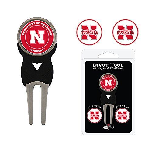 NCAA Nebraska Cornhuskers 3 Marker Signature Golf Divot