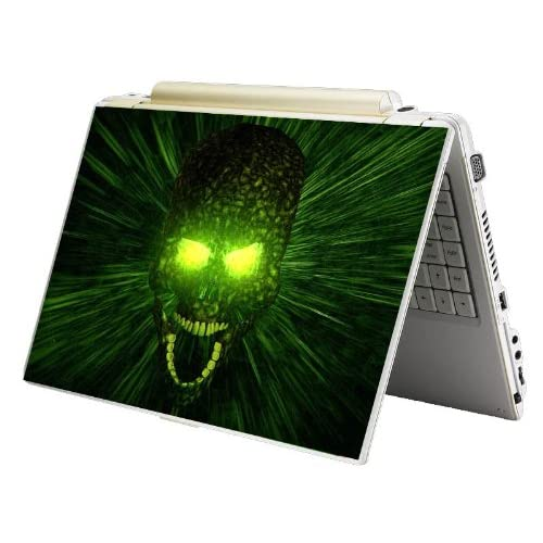 Bundle Monster MINI NETBOOK Laptop Notebook Skin Sticker Cover Art Decal   7 8 9 10   Fit HP Dell Asus Acer Eee Compaq MSI   Green Monster