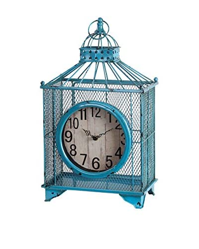 Iron Table Clock, Blue