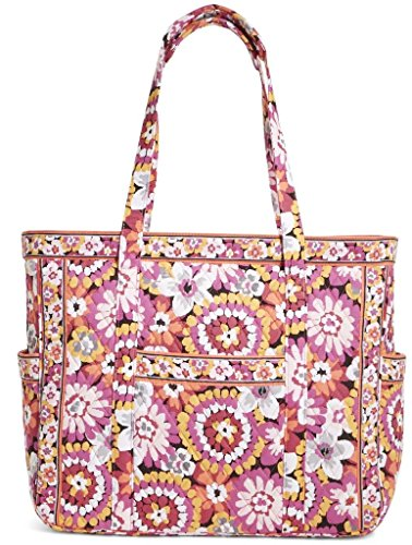 Vera Bradley Luggage Womens Get Carried Away Tote Pixie Blooms Tote (Quilted Zipper Tote compare prices)