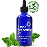 Peppermint Essential Oil - Big 4 Ounce - 100% Pure & Natural - THE BEST THERAPEUTIC GRADE OIL made from MENTHA PIPERITA - Great for aromatherapy and multiple household uses - Quick Relief from Stress, Migraines, Headaches & Anxiety - Also Serves as Repellent to SPIDERS, FLEAS, MICE and ANTS - FREE EBOOK of uses & benefits - Guaranteed to make your smile or your money back!