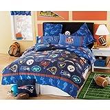Amazon com nfl football logo twin comforter new all teams patriots