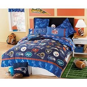 Amazon.com - NFL FOOTBALL LOGO TWIN COMFORTER, NEW All Teams-Patriots