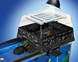 Reptology® Turtle Topper® Above-Tank Basking Platform & Dock (Black)