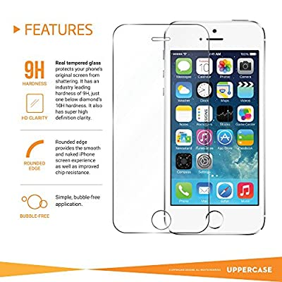 UPPERCASE Tempered Glass Screen Protector for iPhone 5/5s/5c from UPPERCASE