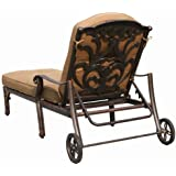 Heritage Outdoor Living Flamingo Cast Aluminum Outdoor Patio Chaise Lounge with Cushion - Antique Bronze