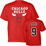 Luol Deng Red Majestic Player Name and Number Chicago Bulls T-Shirt