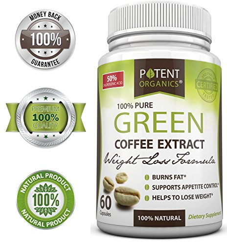 100% Pure Green Coffee Bean Extract With Gca - Premium Quality - Weight Loss And Fat Burner Supplement - All Natural - No Side Effects - Works For Men & Women - 800Mg Gca (50% Chlorogenic Acid) - 100% Lifetime Money Back Guarantee - Order Risk Free!