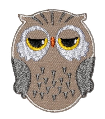 Cute Brown Owl Cartoon Diy Applique Embroidered Sew Iron On Patch Ow-010