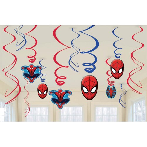 Spiderman Swirl Value Pack - Birthday and Theme Party Supplies
