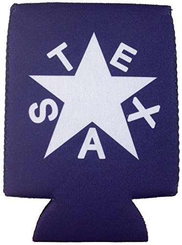 Blue Republic of Texas Star Flag - Magnetic Neoprene Koozie / Can Holder / Beverage Cooler (1) (Magnetic Can Koozie compare prices)