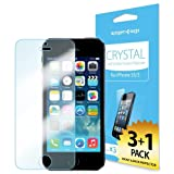 iPhone 5S Screen Protector, Spigen® iPhone 5S Screen Protector [Crystal Clear][4-PACK]**JAPANESE BASE PET FILM**[LIFETIME WARRANTY] Premium Front Screen Protector + Back Protector for the NEW iPhone 5S and iPhone 5 - AT&T, Verizon, Sprint, T-Mobile, International - Crystal CR (SGP10352)