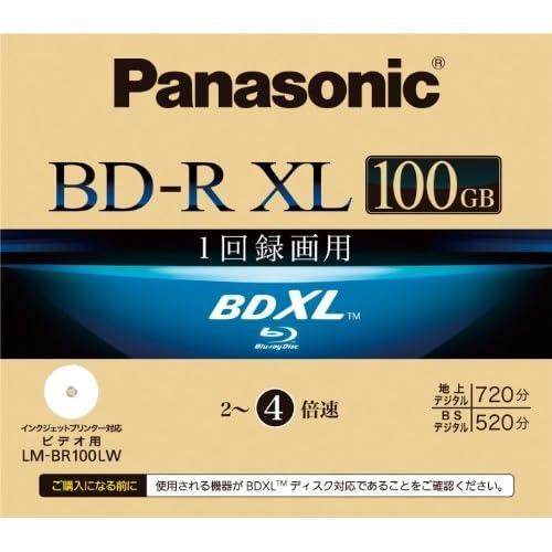Panasonic ブルーレイディスク 録画用4倍速 100GB(片面3層 追記型) 単品 LM-BR100LW