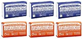 Dr. Bronner's Magic Castile Bar Soaps, Peppermint & Tea Tree (6x5 Oz.)