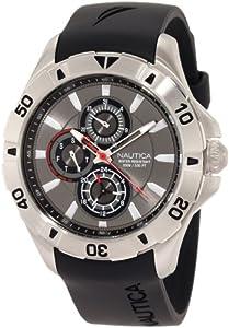 Nautica Men's N14609G NST 06 Multifunction Black Resin Watch