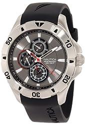 Nautica Men's N14609G NST 06 Multifunction Black Resin Strap Watch