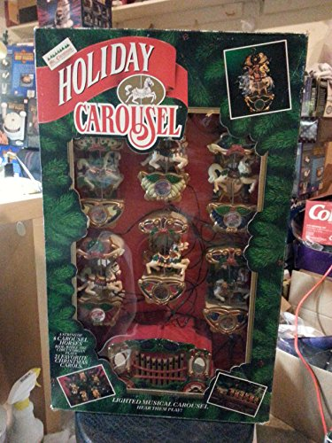 Mr christmas musical holiday carousel string of six for Mr price home christmas decor