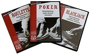 Easy Professional Casino Dealer Job Training Set: Poker/Roulette/BlackJack