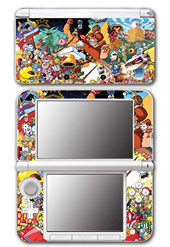 Super Smash Bros Retro Collage Donkey Kong Bomberman Megaman Kirby Video Game Vinyl Decal Skin Sticker Cover for Original Nintendo 3DS XL System (Kirby 3ds Xl Decal compare prices)
