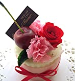 プリザーブドフラワー お花でできたフラワーケーキ プチチェリーケーキ 食べられません
