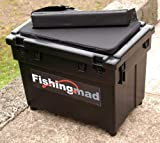 FISHINGMAD SEAT BOX + STRAP + CUSHION ---- 4 DESIGNS, Great seatbox tackle box choice of sticker