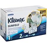 Kimberly-Clark Kleenex 31699 Slimfold Hand Towel Dispenser Starter Kit (1 Dispenser, 2 Refill Packs)