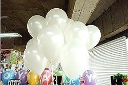 GrandShop 50250 Balloons Metallic HD Finish White (Pack of 50)