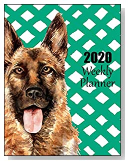 German Shepherd 2020 Dated Weekly Planner - A fun canine-themed planner to help any dog lover stay organized and keep track of activities on a daily, weekly, and monthly basis from January to December 2020.