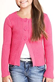 Pure Cotton Plain Ribbed Cardigan [T74-2587Y-S]