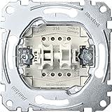 Merten MEG3155-0000 Doppeltaster-Einsatz, 2 Schließer 1-polig, 10 A, AC 250 V, Steckklemmen