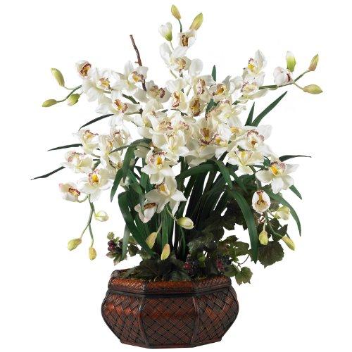 Large Cymbidium Silk Flowers in White 1199-WH