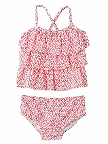 Carters Infant Girls 2 PC Ruffled Anchor Print Tankini Swimming Suit Baby Swim